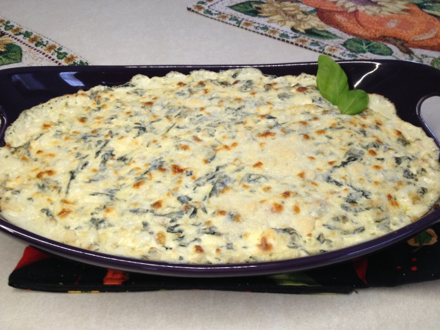 Hot Shrimp Scampi Spinach Dip